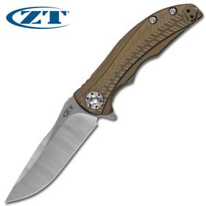 Zero Tolerance ZT 0609 RJ Martin CPM 20CV Blade Bronze Anodized Titanium Handles