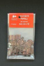 AMATI PUERTAS PARA CAÑONES DE 10X10 MM SACHET DE 10 PIEZAS ART 4132/10
