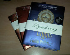 Philip Pullman SIGNED TRILOGY 3 Book Northern Lights Subtle Knife Amber Spyglass