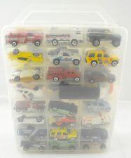 Vintage Clear Car Carry Case w/ 48 Matchbox Cars