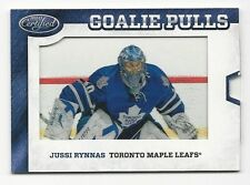 Jussi Rynnas 2012-13 Cetrified Goalie Pulls Card # GP-43.