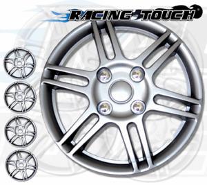 "Metallic Silver 4pcs Set #004 14"" Inches Hubcaps Hub Cap Wheel Cover Rim Skin"