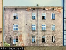 """*O Scale Scratch Built """"APARTMENT #3"""" Building Front Flat MTH Lionel NEW!"""