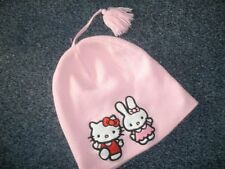 H&M Hello Kitty - Mütze   122/128  Rosa m.Stick.u.Print   SÜSS  TOPZUSTAND