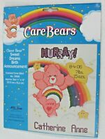 Care Bears  Birth Announcement Counted Cross Stitch Kit Sweet Dreams New