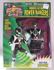 "Power Rangers - Zack - 8"" Karate Kickin W/Logo Badge"