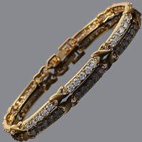Riva Neu Schmuck 18K Gelbgold Vergoldet Weiss Topas Damen Geschenk Armband