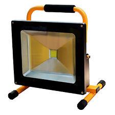 30W LED Spot Wiederaufladbarer weiß Bau Außen Strahler Floodlight Flutlicht Akku