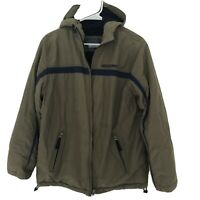 Abercrombie & Fitch Men's Olive Green & Blue Jacket Coat Size Medium
