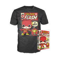 Sheldon as The Flash SDCC 2019 Big Bang Theory Unisex T-Shirt Size L Funko