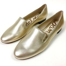 5f0fb7e495e5 New Sam Edelman Womens Butter Soft Gold Leather Jordy Loafer Flats Shoes  Size 8M