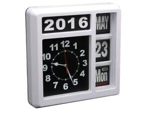 Pendulum Clock Retro Design Wall Or Pose Free Calendar Numerals Sautants