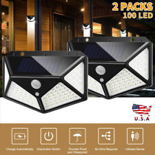 100 LED Solar Power  Motion Sensor Wall Lights Outdoor Garden Lamp Waterproof US