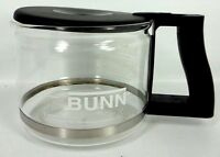 BUNN COFFEE MAKER 10 CUP REPLACEMENT CARAFE GLASS BLACK LID