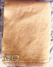 """More details for vintage witney wool blanket peach satin edging 60x90"""" double"""