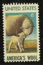 US Scott #1423, Single 1971 America's Wool 6c FVF MNH