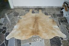 BUTTER CREAM-  Rug HAIR ON SKIN  Leather cowhide 4371-   70'' x  70''