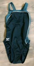 Speedo Endurance One-Piece Swimsuit Black/Gray 8/34
