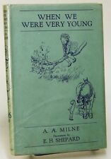 When We Were Very Young by A.A. MILNE 1934 HC/DJ First Cheap Form edition 78135