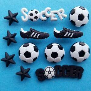 SOCCER Football Player Sport Ball Boot Team Boy Man Dress It Up Craft Buttons
