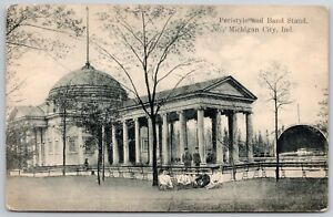Michigan City Indiana~Folk Gather @ Peristyle & Band Stand~Ladies on Lawn~1908