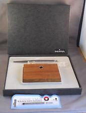Sheaffer Wooden single pen desk set-NEW OLD STOCK