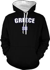 Greece Greek Athens Europe Flag Country Pride Islands 2-tone Hoodie Pullover