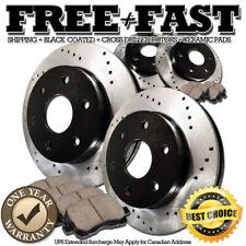 A1033 FIT 2007 2008 2009 2010 2011 TOYOTA TUNDRA Drill Brake Rotors Ceramic Pads
