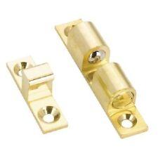 Richelieu Hardware Bp55334130 Brass Double Bead Catch 60mm X 11mm Brass Finish