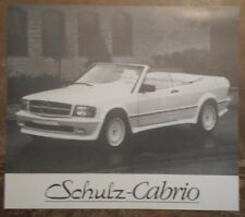 MERCEDES BENZ SCHULZ CABRIO orig 1980s Sales Leaflet Brochure - W201 190 Series
