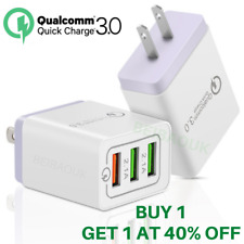 QC 3.0 Qualcomm Quick Charge Wall Charger USB Adapter For iPhone iPad Samsung LG