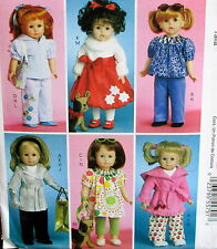 "doll clothes pattern pet 7"" puppy to fit 18"" doll trench coat robe legging top"