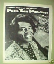 1986 James Brown Soul Music Record,Album Print Art AD