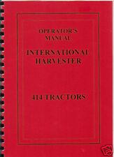 "International ""B-414"" Tractor Operator Manual"