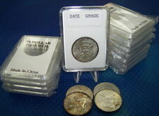 10 Coin Holders Slab Style for US Half-Dollar size --- 30.5 mm