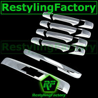 07-14 Chevy Suburban+Tahoe Chrome 4 Door Handle+Liftgate w. LOGO+Tailgate Cover