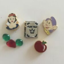Snow White & Dopey Set -Licensed Bracciale Disney Floating Locket Charms * NEW *