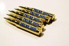 Donald Trump 2020 30 Caliber Bullet Pen Lock and Load Brass Color
