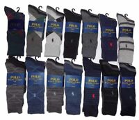 3 Pair Mens Polo Ralph Lauren Socks Dress Casual Black Grey Argyle Navy Khaki 3