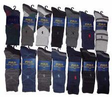 3 Pair Mens Polo Ralph Lauren Socks Dress Casual Black Grey Argyle Navy Khaki 3