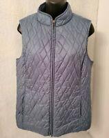 Croft & Barrow Womens Bluish Green Lined Zipper Vest Jacket Coat Size M