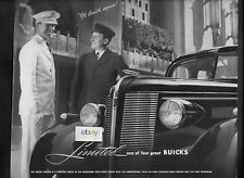BUICK AUTO 1937 LIMITED 4 GREAT MODELS AT WALDORF ASTORIA DRIVER & DOORMAN AD