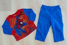 NEW BOYS TODDLERS KIDS MARVEL SPIDERMAN PAJAMAS PJ 2 PIECES SET SIZE 2T BLUE RED