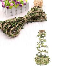 Corde de chanvre de noël décor de fête 2M ficelle ficelle feuilles vertes