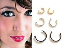 Men's Women Open Nose Ring Hoop Lip Ear Studs Tragus Cartilage Helix Eyebrow