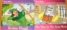 Robin Hood / The Man In The Iron Mask (2 x Animated DVDs)