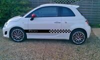 Fiat 500/500 L side racing stripes stickers,decals,graphics,sport, abarth
