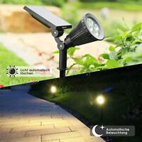 Solar Spotlights Outdoor Spot Light 4 LED Garden Lamp Flood Landscape-Lightings