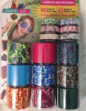 Parrot Tape Duct Tape Glitter Tape Combo Pack 15ct Camouflage Patterns New Nip