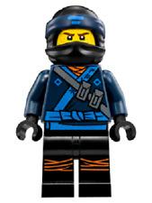 Lego Mini Figure - Ninjago - Jay in Lego Ninjago Movie - (njo313)